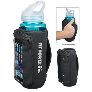 Neoprene Bottle Cooler With Phone Holder