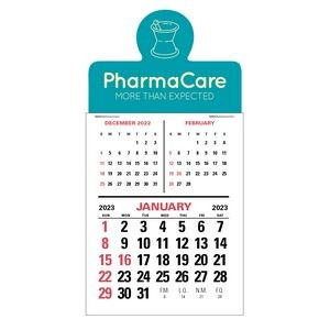 3 Month Vertical 12 Month Press-N-Stick™ Calendar Pad