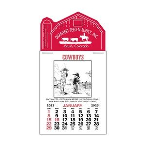 Cowboy 12 Month Press-N-Stick™ Calendar Pad