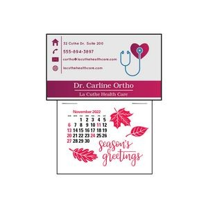 Magna-Stick™ Press-N-Stick™ Business Card Calendar